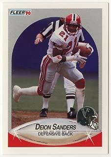 Deion Sanders 1990 Fleer Football Trading Card # 382 - Rookie Season - Atlanta Falcons