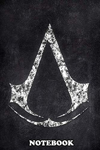 Notebook: Assasin Creed Logo Chalk , Journal for Writing, College Ruled Size 6' x 9', 110 Pages