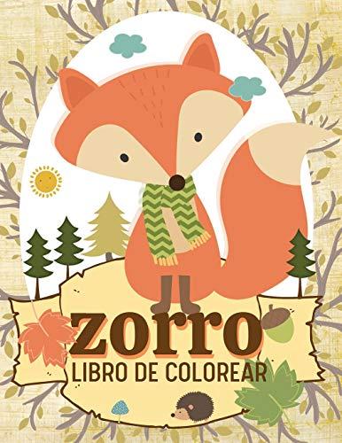 Zorro Libro de colorear: Libros infantiles para colorear, alivio del estrés, Terapia de relajación y color antiestrés para niños