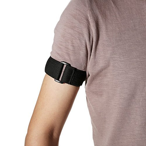 Glo-shine Universal Elastic Adjustable Sport Armband Strap for All Models IPO with Silicone or Leather Case with Armband Slots (Black)