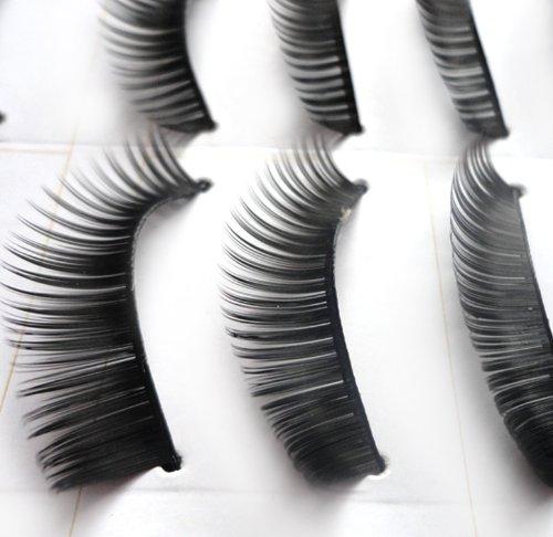 beautylife 10 paires faux cils extensions maquillage (long épais)