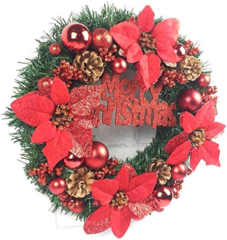 grandes ofertas Yirenfeng Anillo de ratán de de de Puerta de Garland de Navidad Arcades Hotel Decoraciones de Ventanas Decoraciones de Navidad, 60 cm, Gules  Envíos y devoluciones gratis.