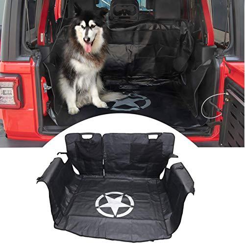 Aochuang Protector Maletero Coche Perros │ Funda Protectora Maletero Perros Cubre Maletero de Hamaca Impermeable para Jeep Wrangler JK 4 Puertas 2007-2017