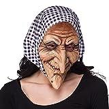 Boland 97508 - Latex Gesichtsmaske Hexe mit Kapuze, Einheitsgröße, Erwachsene, Accessoire, Zubehör, Latexmasken, Kostüm, Hexen, Karneval, Mottoparty, Halloween