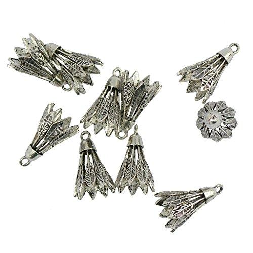 Bonarty 10pcs Retro Charm Anhänger Badminton Anhänger Für DIY Halskette Antik Silber