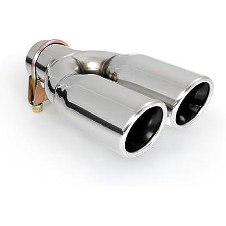 Cartuner Auspuffblende Endrohr 2 X 70 Mm Rund Edelstahl In Sportauspuff Optik Absorber Doppelendrohr Anschluss 33 60mm Auto