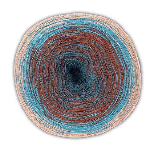 Woolly Hugs Bobbel Cotton Fb. 35, 200g Bobbel mit schönem Degradé - Farbverlauf,