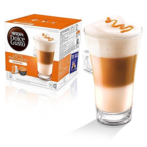 Kaffeepads Kapseln Dolce Gusto Original Caffe Macchiato und Cappuccino 32 LATTE MACCHIATO CARAMEL