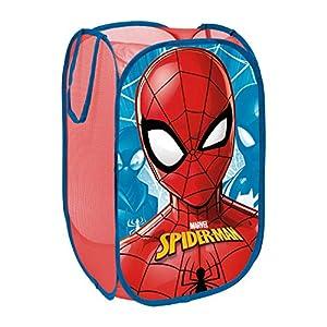 ARDITEX SM11589 Cesta pongotodo Guarda Juguetes, diseño Spiderman