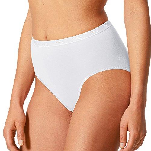 Mey 2er Pack Taillenslips Damen – Größe 44 – Weiß – Taillen-Slip aus Baumwolle und Elasthan – Pflegeleichte Maxislips – Für große Größen geeignet – 89604 of