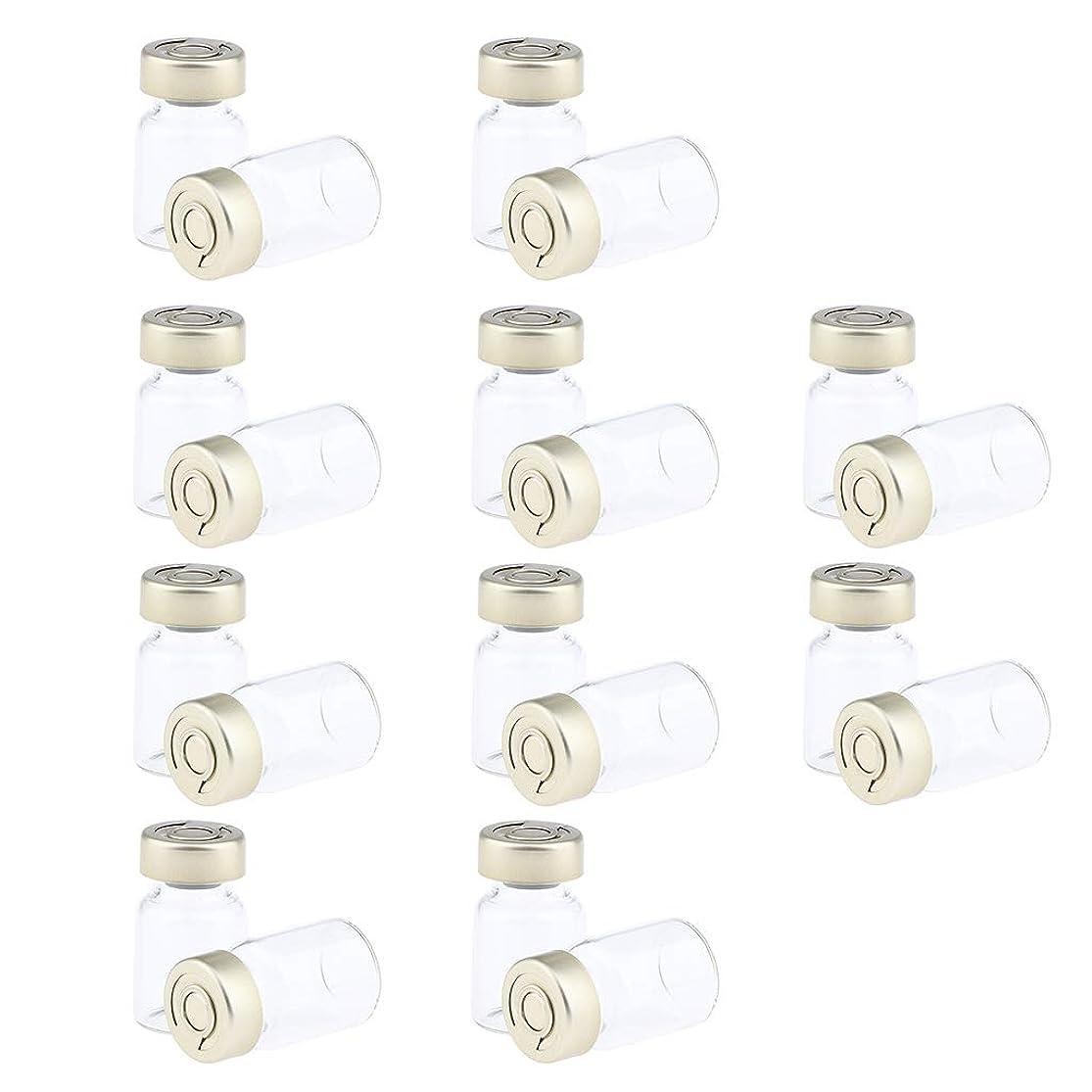 ジャグリング囲い労苦F Fityle 約20個 密封バイアル 空ボトル ガラス密封 セラム バイアル びん 液体容器 3サイズ選べ - 5ミリリットル