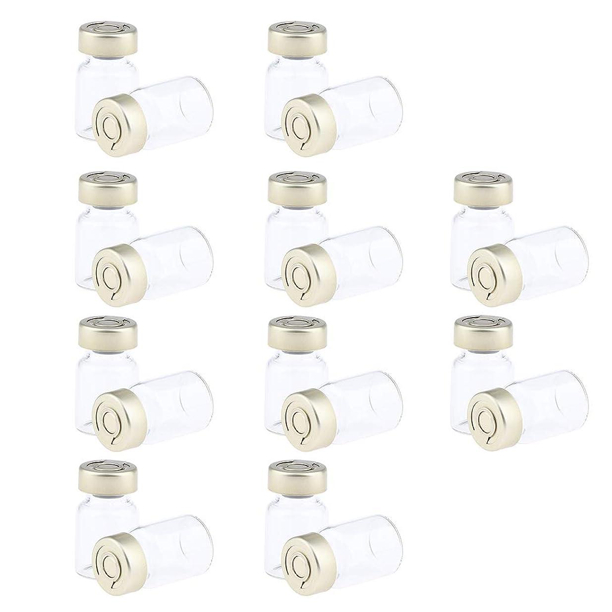 フラップ織るほぼF Fityle 約20個 密封バイアル 空ボトル ガラス密封 セラム バイアル びん 液体容器 3サイズ選べ - 5ミリリットル
