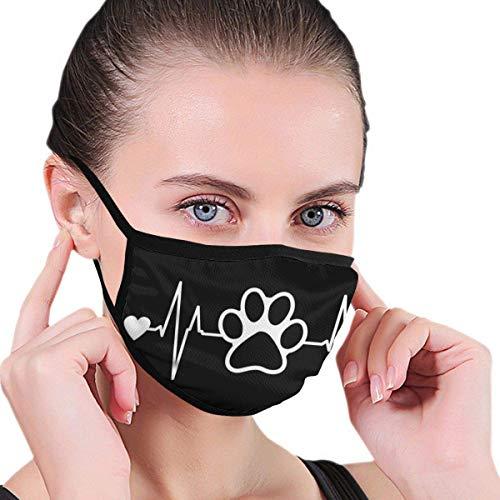 Dog Paw Heartbeat Unisex Fashion Mundabdeckungen Sicherheit Atmungsaktive Gesundheit Anti-Staub Half Face Covers