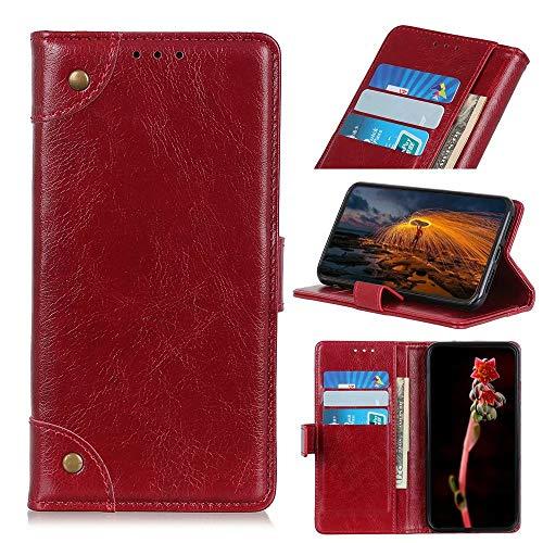 Ufgoszvp Xiaomi Mi 11 Hülle, Handyhülle für Xiaomi Mi 11, Xiaomi Mi 11 Handyhülle Magnetisch Flip Folio Stoßfest Wallet Case für Xiaomi Mi 11 Hüllen mit Ständer Rot