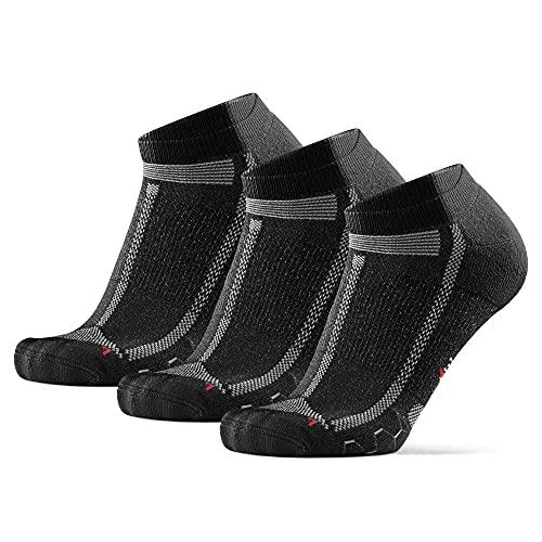 DANISH ENDURANCE Long Distance Low-Cut Running Socks for Men & Women (Nero/Gris,...