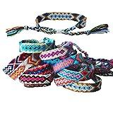 Tangser Nepal Woven Friendship Bracelets with a Sliding Knot Closure for Women, Kids