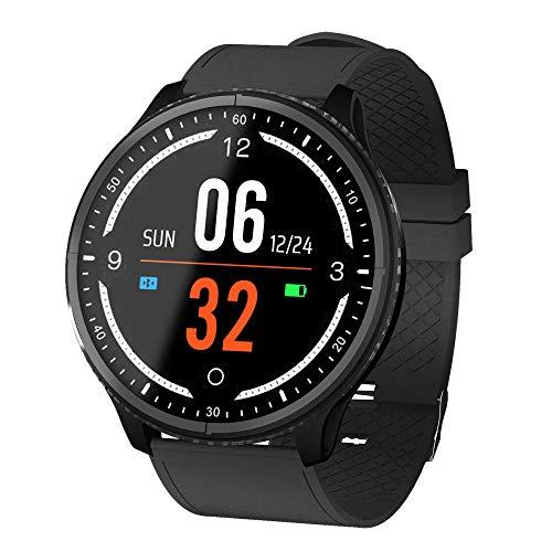 Reloj Inteligente Impermeable Smartwatch IP68 Pantalla Táctil Inteligente Actividad Pulsera Monitor De Sueño Podómetro Hombres Mujeres-B.