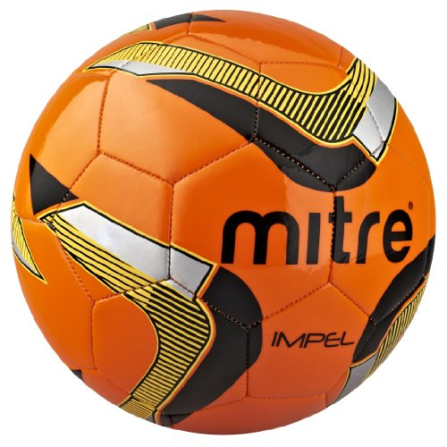 Mitre Trainingsfußball Impel, Orange/Schwarz/Gelb, 4