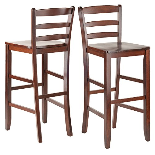 Winsome 29-Inch Bar Ladder Back Stool, Set of 2