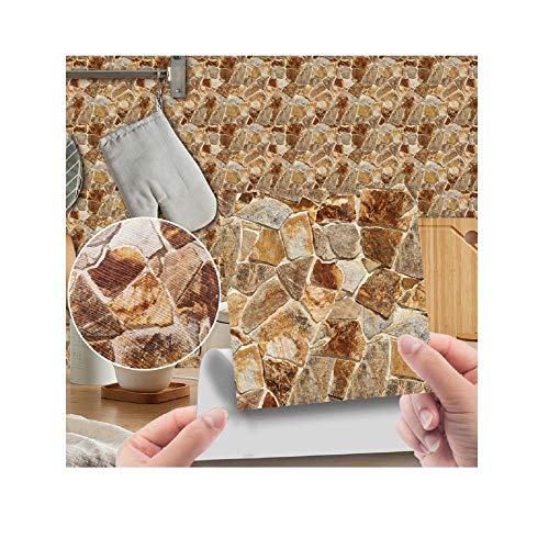 40 PSC, Fliesenaufkleber, DIY, Dekoration, U-Bahn-Peel & Stick Selbstklebende Sprüche, geeignet für Wohnzimmer, Badezimmer, Küche-W-19._20 * 20 cm / 40 stücke