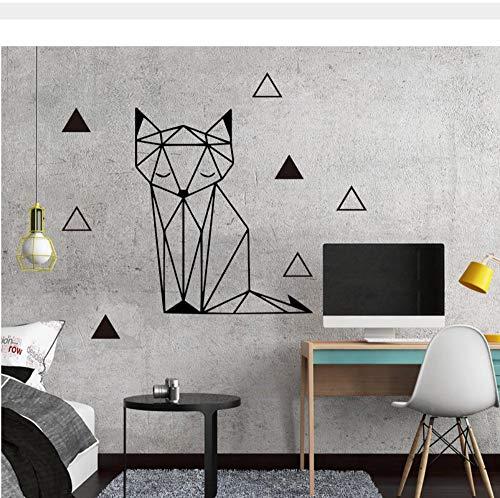Bonita geometría fox Pegatinas de Pared Pegatinas Extraíbles Papel Pintado Bricolaje Para Niños habitaciones de bebés Hogar dormitorio Decoración vinilo Tatuajes de pared mural 30x40 cm