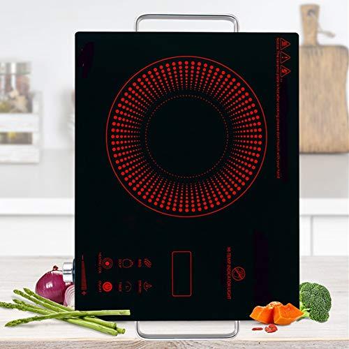 WJY Inductiekookplaat, inductiekookplaat in zwart, hoge energie, elektrische desktop aanraking, multifunctionele keramische kookplaat, 2200 W