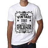 Photo de Premium Vintage Year 1981 Cadeau d'anniversaire 40 Ans Vintage Tshirt t Shirt Anniversaire Cadeau t Shirt