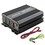 ERAYAK 1000W/1600W Power Inverter 12v to 110v with 3 AC Outlets and Dual 3.1A USB Ports, Inverter for Car Truck RV Solar, Professional-Grade Voltage Converter Modified Sine Wave Inverter