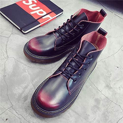 LOVDRAM Bottes Homme Bottes Martin Bottes pour Hommes dans L'Outillage Bottes du Désert pour Hommes Hautes Aide Martin chaussures Chaussures pour Hommes