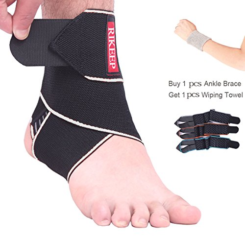 Ankle Support,Adjustable Ankle Brace Breathable Nylon Material Super Elastic and Comfortable One Size Fits all, Perfect for Sports, Protects Against Chronic Ankle Strain, Sprains Fatigue (gray)