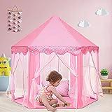 Tienda para niños, joylink tienda de princesa, tienda campaña infantil, interior tiendas de juego para niños, castillo princesas portable gran rosa playhouse