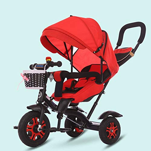 Review Of GWCD-STC Toddler Tricycle Children's Tricycle Bike 1-3-6 2 Can Lie Down Baby Stroller Bike...