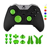 WPS Metal Alloy Bumper Trigger Button Set for Xbox One Elite Controller with Open Tools (T6 T8) - Green