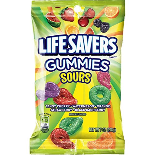 LIFE SAVERS Sours Gummies Candy Bag, 7 ounce (Pack of 12) - SET OF 10
