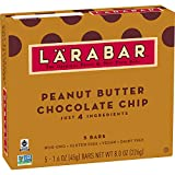 Larabar Gluten Free Bar Peanut Butter Chocolate Chip, 1.6 oz Bars (5 Count), Whole Food Gluten Free Bars, Dairy Free Snacks
