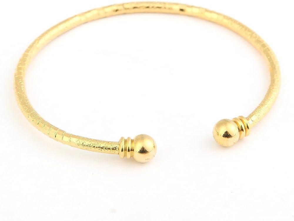 Simple Cuff Bangle Bracelet 18K Gold Platinum Plated Bangle Bracelet Jewelry