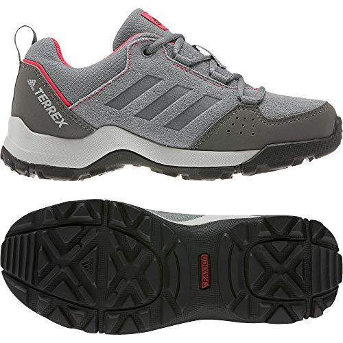 adidas Unisex-Kinder Terrex Hyperhiker Low Lea K Leichtathletik-Schuh, Grau DREI F17 / Grau DREI F17 / Schock Rot, 36 EU
