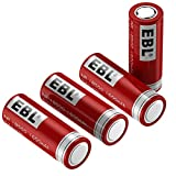 EBL 18500 Rechargeable Batteries 3.7V 1600mAh for Flashlight, Solar Garden Light