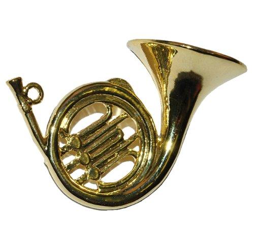 alles-meine.de GmbH Miniatur Horn / Waldhorn - Metall Maßstab 1:12 - Puppenhaus Blechblasinstrument - Musikinstrument Musik Instrument Orchester Wiener