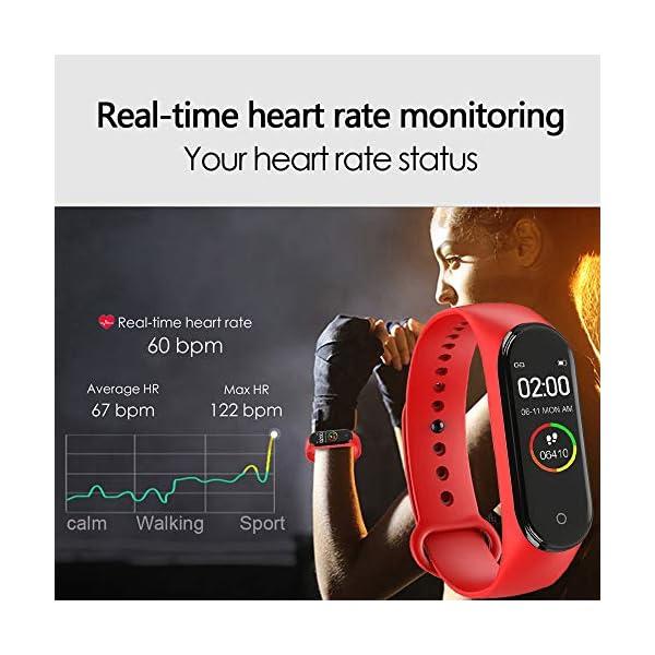 bqlove M4 Fitness Tracker, Reloj De Seguimiento De Actividad con Monitor De Ritmo CardíAco, Banda De Fitness Inteligente… 8