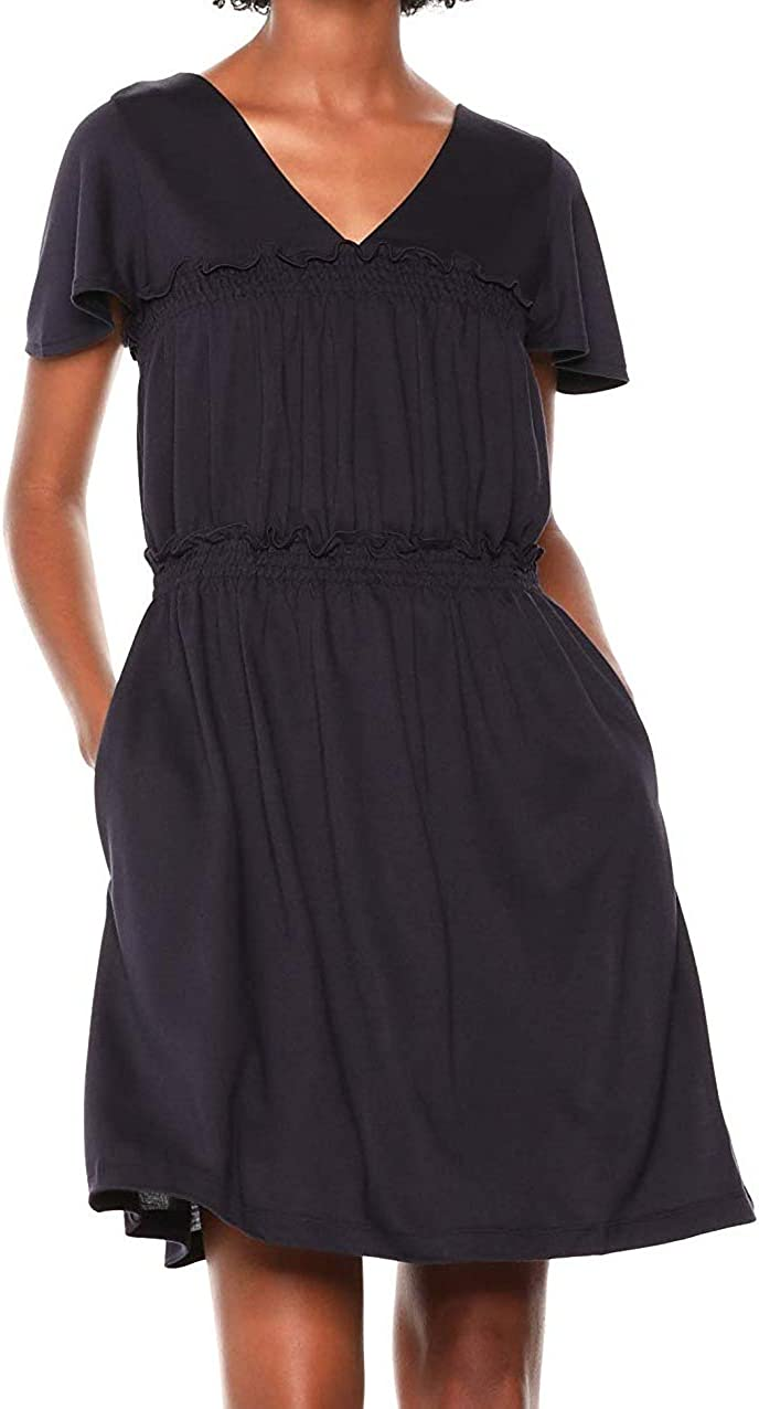 French Connection Womens Aldyth Jersey Short Sleeves Casual Dress