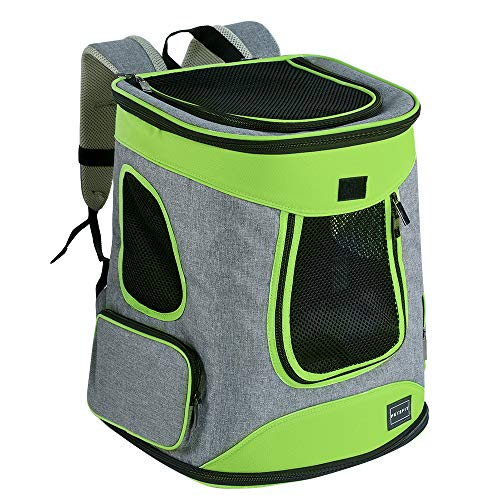 Petsfit Sturdy Hiking Pet Carrier Backpack for Pets up to 16LB -Upgrade Version with Side Pockets