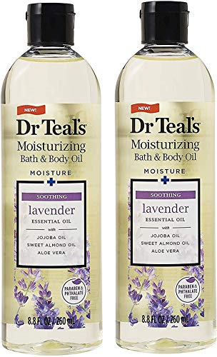 2 Pack of Dr. Teal's Soothe & Sleep with Lavender Body and Bath Oil, 8.8 fl oz each (Packaging may vary)