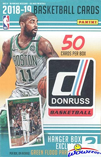 2018/19 Panini Donruss NBA Basketball HUGE Factory Sealed HANGER Box with (3) EXCLUSIVE GREEN FLOOD PARALLELS! Look for Rookies & Autos of Luka Doncic, Trae Young, Deandre Ayton & More! WOWZZER!