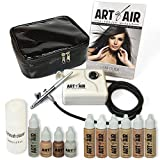 Art of Air Professional Airbrush Cosmetic Makeup System/Fair to Medium Shades 6pc Foundation Set with Blush, Bronzer,...