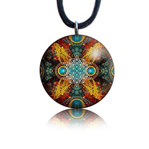 Sacred Geometry Orgone Pendant | Merkaba | Orgonite Necklace | EMF...