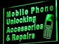 Mobile Phone Accessories Repairs LED Sign LED看板 ネオンプレート サイン 標識 Display j114-g(c)