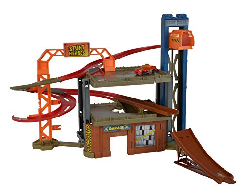 Simba - 212058014 - Stunt Heroes Crash Center - Circuit Voiture Miniature - Muli -Modes - + 1 Voiture Stunt Heroes Incluse