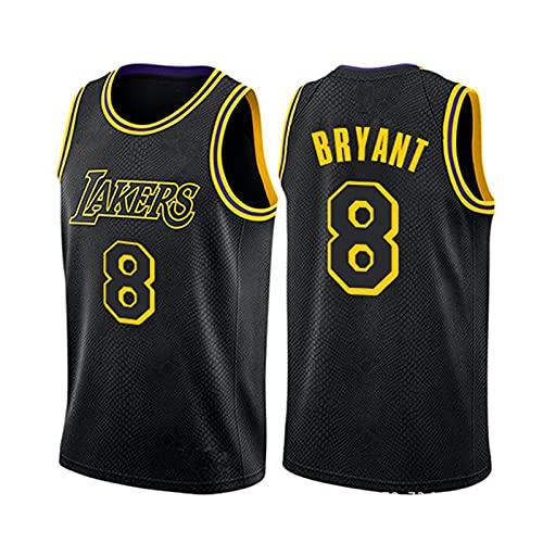 GFQTTY NBA Jersey, 8 La Lakers Fan Basketball Jersey Bordado Gym Vest Sports Top, Jersey para Hombre Y Mujer