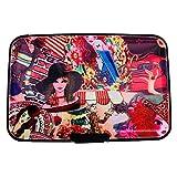 Geldbörse aus Aluminium, RFID-Blockierung, Kreditkartenetui, für Damen One size Fashion Girl